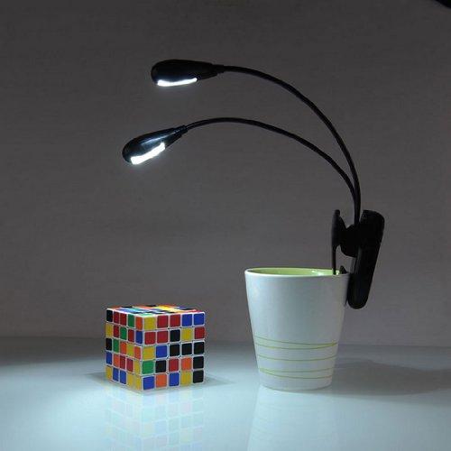 Voberry Adjustable Goosenecks Clip On Led Lamp For Music Stand And Book Reading Light Duet2 Music Light