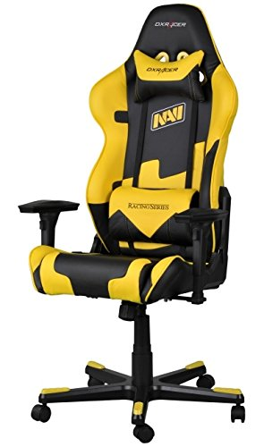 DX Racer Racing Series Gaming Chair - Yellow and Black - Natus Vincere Edition