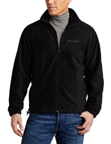 Columbia Men's Steens Mountain Full Zip Fleece Jacket, Black, 1X