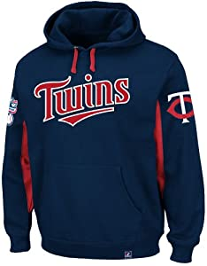 Minnesota Twins Majestic MLB Major Play Hooded Sweatshirt - Navy by Majestic