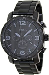 Fossil Nate Chronograph Stainless Steel Watch - Black Jr1401