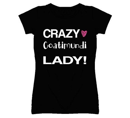 Coatimundi Crazy Animal Lady Gift T Shirt 2XL Black
