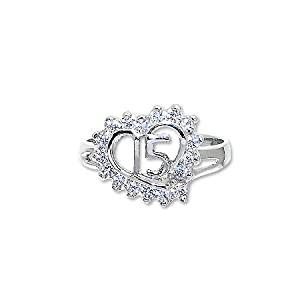 white gold quinceanera ring white gold