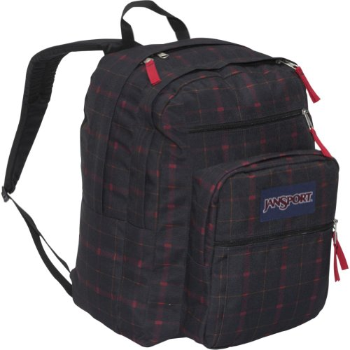 JanSport Big Student Backpack (Red Riff Bomber Plaid)