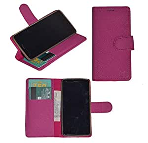 R&A Pu Leather Wallet Flip Case Cover With Card & ID Slots & Magnetic Closure For Samsung Galaxy On7