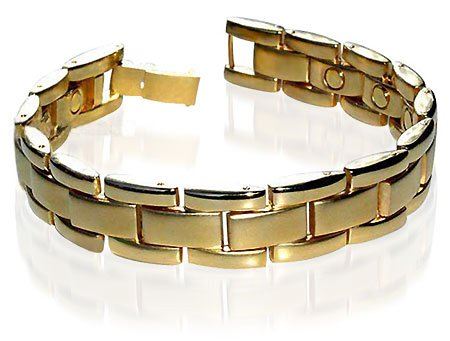 Mens New Gold Magnetic Link Power Golf Bracelet 8.5″