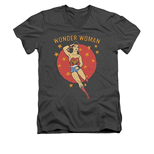 Wonder Woman DC Comics Superhero Wonder Circle Adult V-Neck T-Shirt Tee
