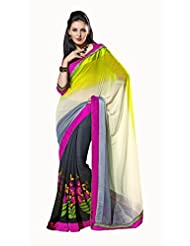 Indian Designer Sari Elite Printed Chiffon Georgette Saree By Triveni