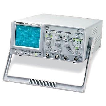 GW Instek Portable Analog Oscilloscope, 100MHz Bandwidth, 16kV Accelerating Potential