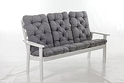 3er Set Hochlehnerkissen Polsterkissen Sitzauflage Gartenstuhlauflage grau SPARPREIS von Ambientehome auf Gartenmöbel von Du und Dein Garten