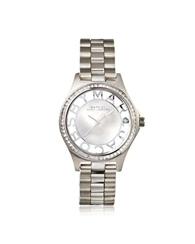 Marc by Marc Jacobs Women's MBM3337 Henry Glitz Silver Stainless Steel Watch