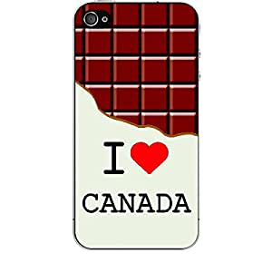 Skin4gadgets I love Canada - Chocolate Pattern Phone Skin for IPHONE 4