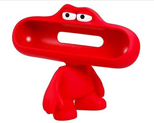 Lovely Dude Doll Design Bluetooth Speaker Stand/ Holder For Beats Pills Bluettoth Speaker (Red)