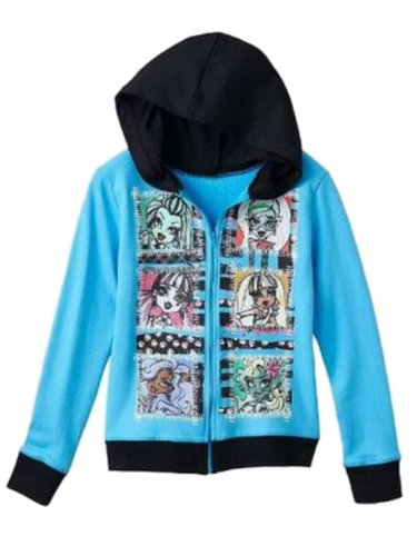 Monster High Six Boxes Girls Hooded Sweatshirt