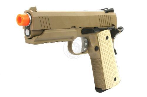 We Tech Full Metal Airsoft Blowback Gas Gun Pistol M1911 Desert Warrior