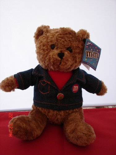 41hNGpafnIL Cheap Buy  M&Ms Teddy Bear Wearing Blue Jean Jacket New with Tag