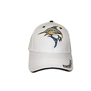 Embroidered fishing cap in white ensenada hat for White cap fish
