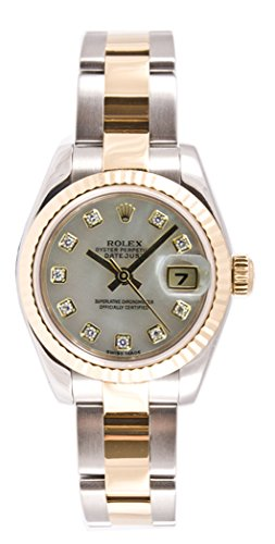 Rolex Ladys 179173 Datejust, Oyster Band, Fluted Bezel & Mother of Pearl Diamond Dial