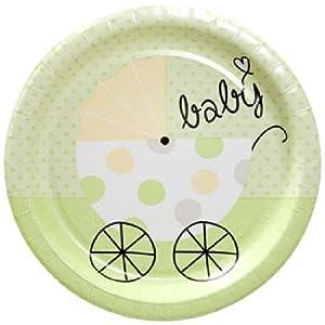 Baby Shower Dinner Plates (Unisex - 18 Count)