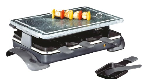 Kuchenprofi 8-Tray Premium German Engineered Raclette Hot Stone