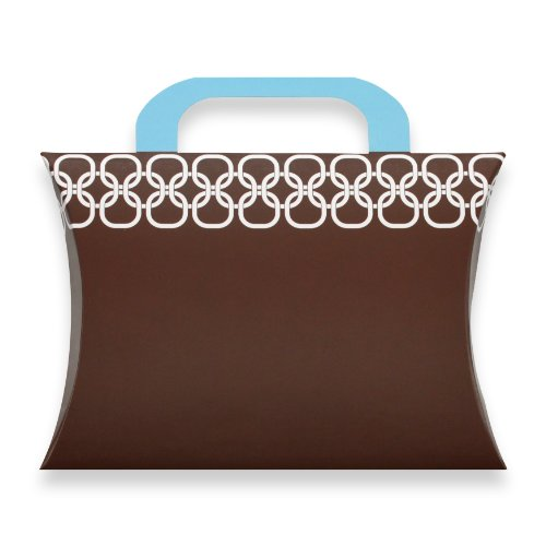 Berwick Chainlink Pillow Box Gift Card Holder, Brown, 7 3/8