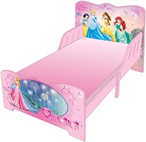 DISNEY PRINCESS PINK WOODEN BABY TODDLER JUNIOR BED FRAME