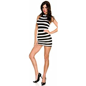 Black  White Striped Maxi Dress on Music Legs Black And White Striped Halter Mini Dress