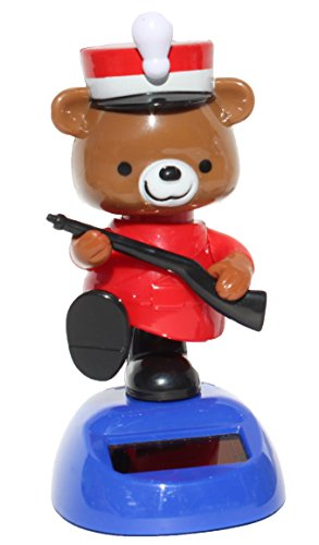 British Teddy Bear Guardian Policeman Officer Cop Solar Toy - 1