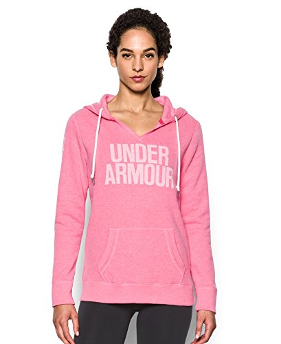 Under Armour Women's Favorite Fleece Word Mark Popover, Knock Out (656), X-Large