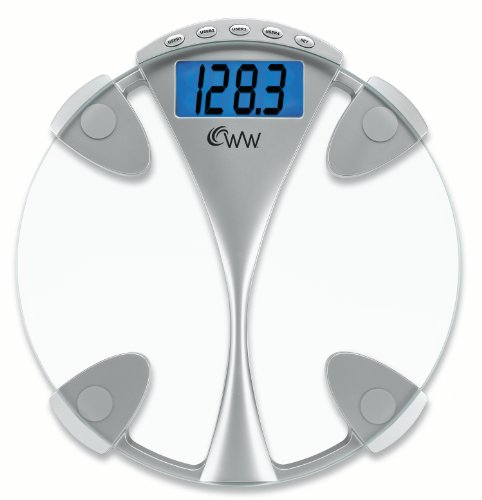 Weight Watchers Glass Tracker Scale with Blue Backlight