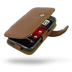 HTC Rezound Leather Case - Book Type (Brown) by Pdair