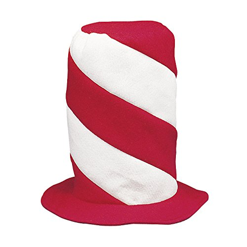 Red and White Swirl Stovepipe Hat [Toy] by Fun Express - 1