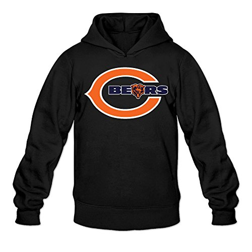 QK Bears Chicago Men's Sport Hoodie L Black (Chicago Bears Hoodie compare prices)