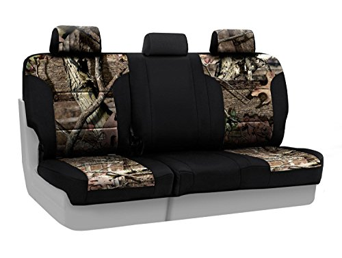 Coverking Rear 60/40 Bench Custom Fit Seat Cover for Select Toyota Tacoma Models - Neosupreme (Mossy Oak Break Up Infinity Camo with Black Sides) (Custom Fit Seat Covers Camo compare prices)