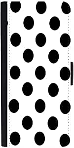 Snoogg White Polka Dot Designer Protective Flip Case Cover For Apple Iphone 6S