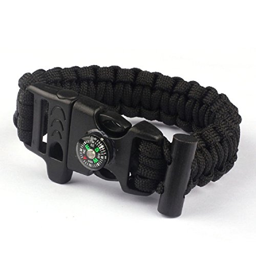 Aokdis Rope Paracord Survival Bracelet Compass