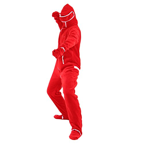 BIBILAB (ビビラボ) 冬のダメ着 人型寝袋 フリース EH-RED-M ニュータイプ着る毛布