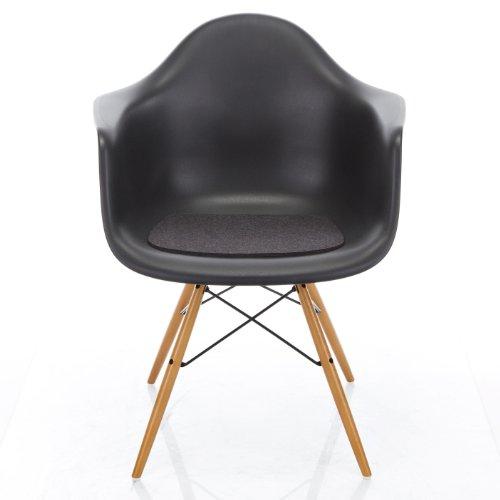 Hey-Sign Sitzauflage Eames Armchair antirutsch, graphit grau Filz