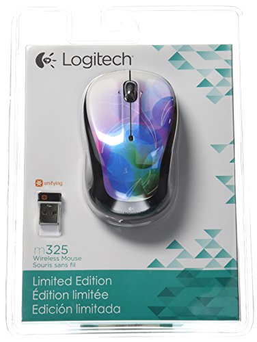 Logitech Wireless Mouse M With Designed For Web Scrolling Zany Black