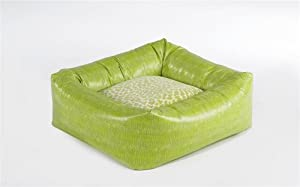 Dutchie Dog Bed Size: Large, Color: Lime Lizard Faux Leather