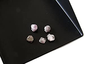 1 Piece - Pink Rough Diamond, Natural Diamond, , Raw Diamonds, Uncut Diamonds - 5mm Approx, SKU-D22