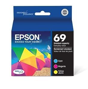 Epson DURABrite T069520 Ultra 69 Standard-capacity Inkjet Cartridge Color Multipack -Cyan/Magenta/Yellow