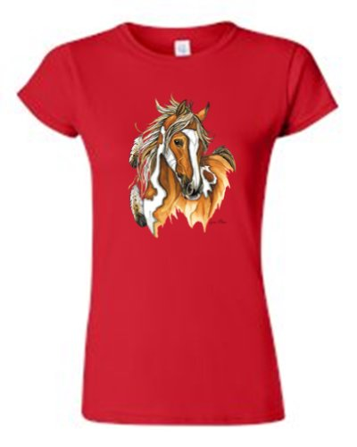 juniors-beautiful-paint-horse-native-american-feathers-red-t-shirt-small