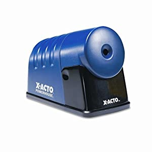 X-Acto Powerhouse Electric Pencil Sharpener, Translucent Blue, 1 Unit (1792)