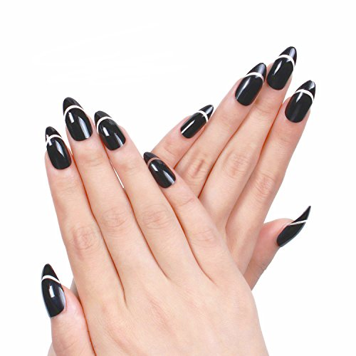 ejiubas-crescent-moons-design-stiletto-shape-full-cover-false-nail-tips-pcs-with-nail-gule-by-ejb