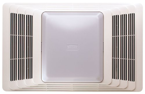 Broan 657 Fan and Light, 70 CFM 4.0 Sones, White Grille (Door Exhaust Fan compare prices)