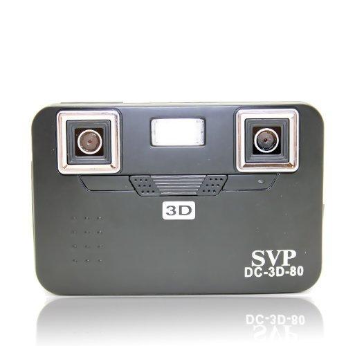 SVP DC-3D-80 Black 3D Digital Camera with 2.8 Barrier 3D Display