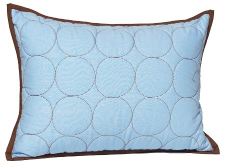 Quilted Circles Blue/Chocolate Boudoir