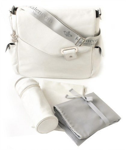 Kalencom Ozz Iridescent New Flap Bag, Cream