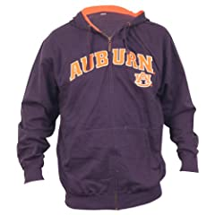 Auburn University Tigers Classic Full Zip Hoodie (navy) by NCAA